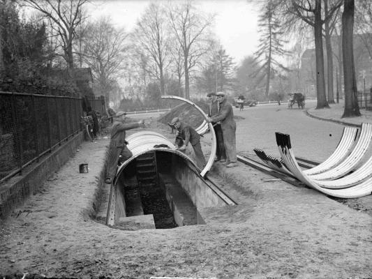 Nijmegen Gasvrije schuilloopgraaf  Julianapark ©Archief Nijmegen