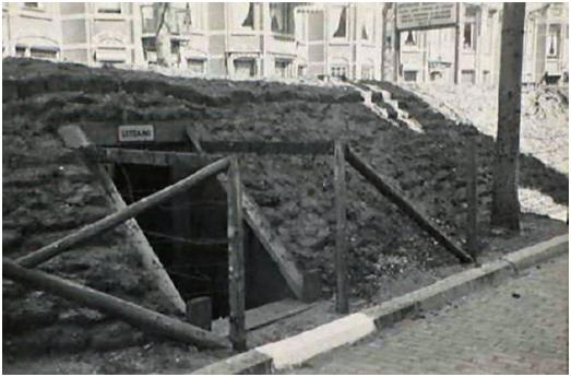 Den Haag Juliana van Stolberglaan scherfvrije schuilplaats ©Archief Den Haag