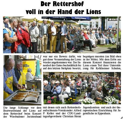 Kelkheimer Zeitung Nr. 25 vom 21.6.2012, Der Reiterhof voll in der Hand der Lions