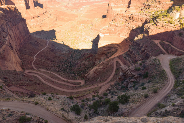 Vom Overlook Point aus sieht der Trail dann so aus.