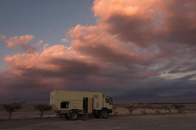 Gewitterwolken am Horizont