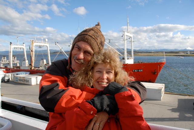 Auf der Fahrt in die Antarktis 2009