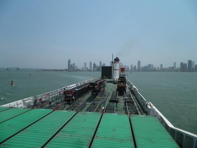 Einfahrt in den Hafen von Cartagena