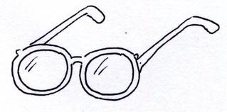 schematisches Bild einer Brille