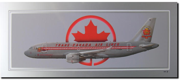 ref: PA18 - A319 Trans Canada Airlines (70 X 30 cm)