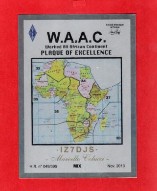 Award Manager per il diploma W.A.A.C. IK7NXM
