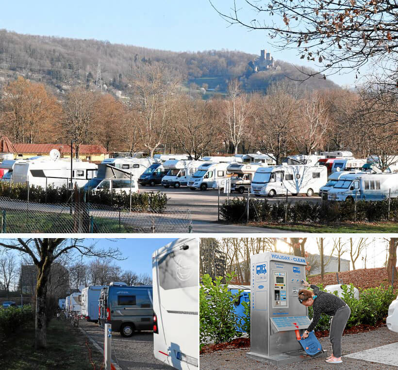 Reisemobilstellplatz Lörrach mit Strom, Wasser und kostenloser Entsorgung