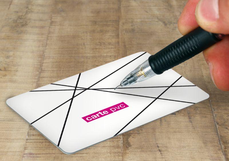Carte PVC blanc