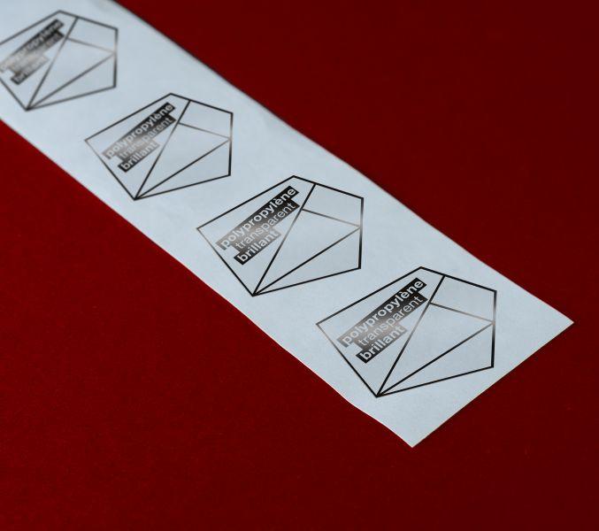 Etiquettes Polypropylène transparent