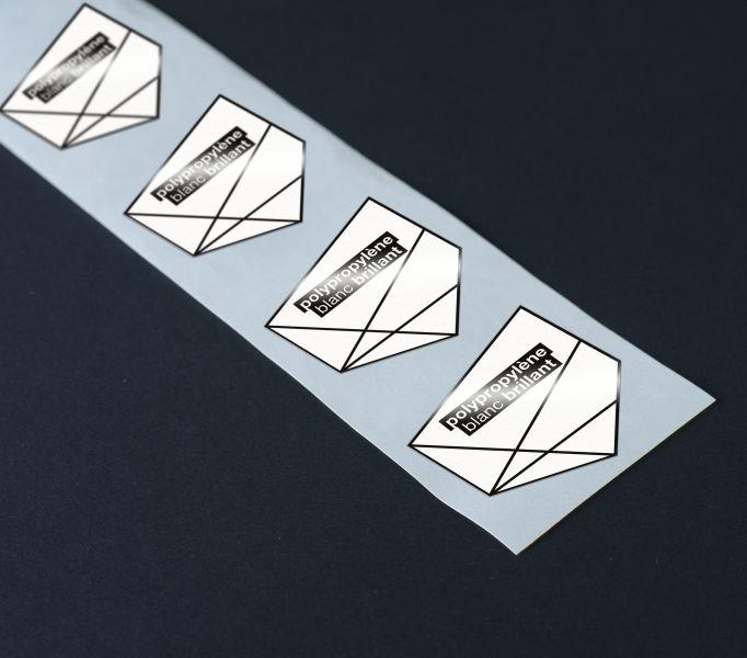 Etiquettes Polypropylène blanc brillant