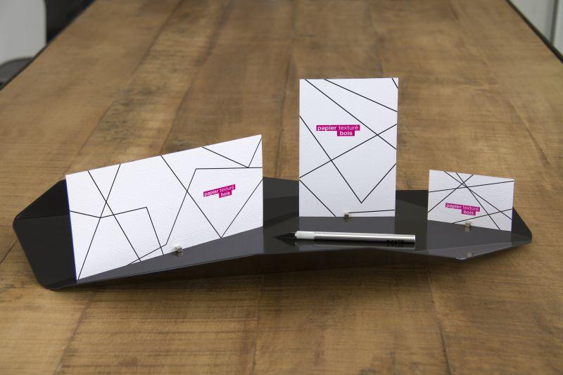 Carte papier texturé