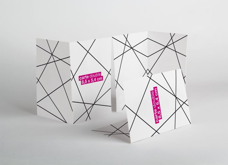Carte 2 volets 8,5 x 5,4 cm