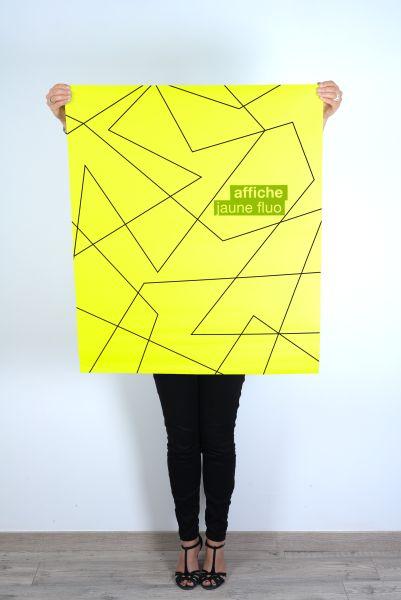 Affiche jaune fluo