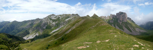 Le Lauriolle depuis le col de sieste ( photo Clément google earth)