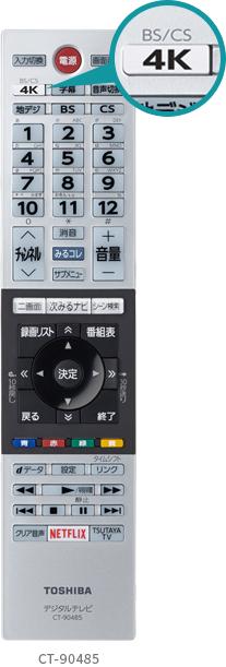 東芝テレビリモコン CT-9048S 画像をクリックすれば、メーカーリモコン説明サイトに飛びます