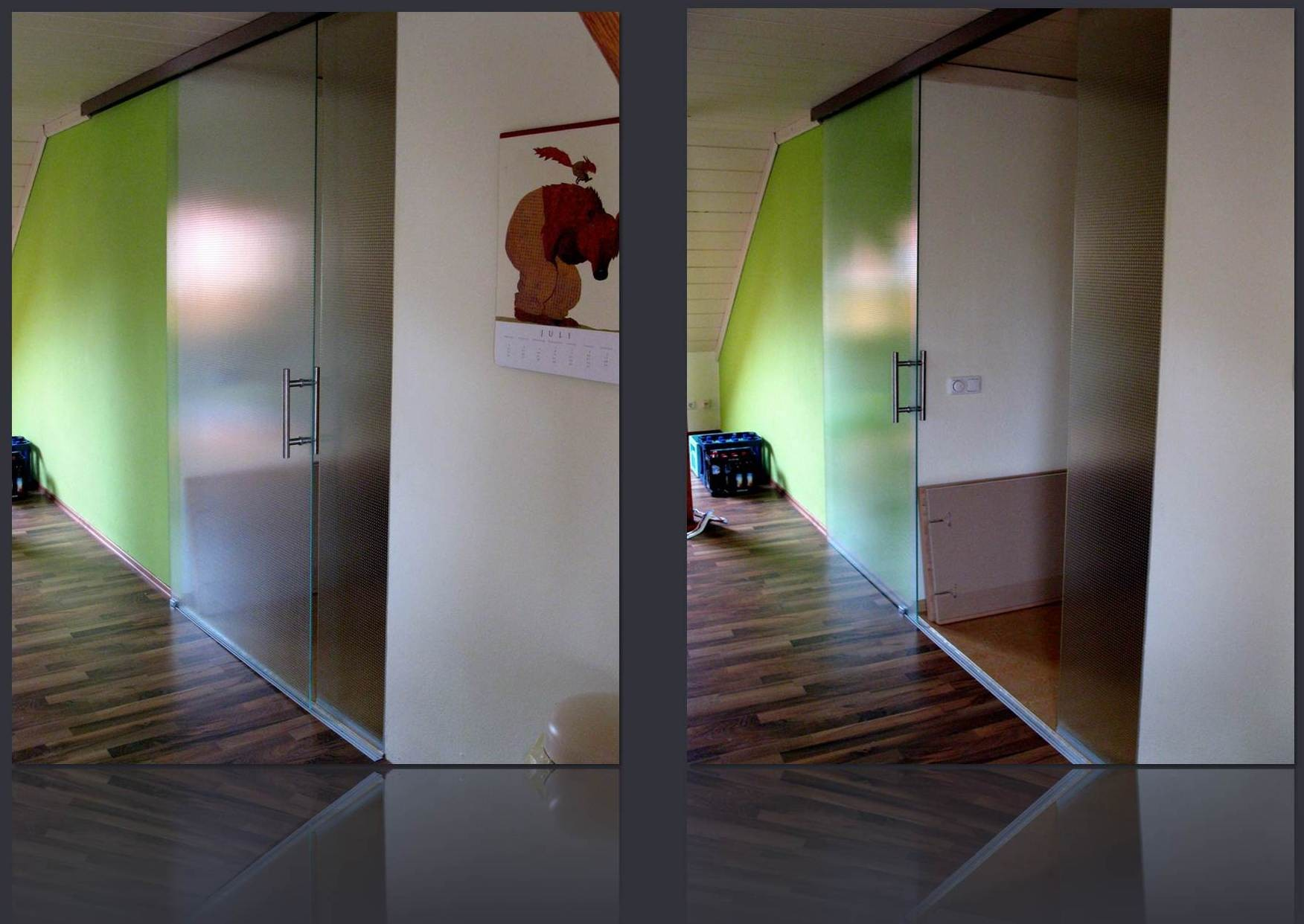 Glasschiebetüre Wohnzimmer in Mastercare