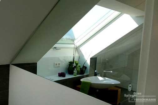Badezimmerspiegel Dachschräge