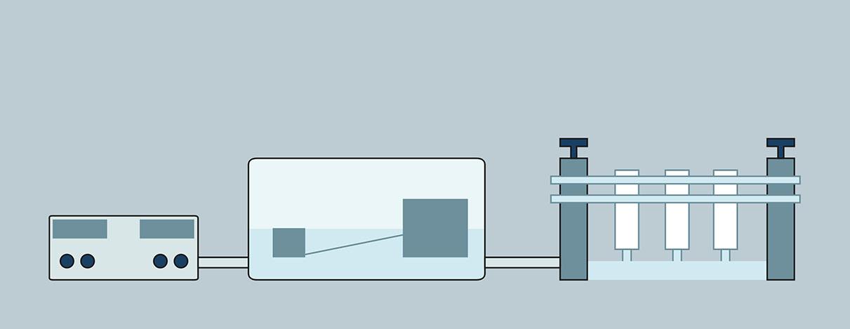 cellstretcher Querschnitt eines Geräts für Zellforschung – CLS GmbH, Eppelheim