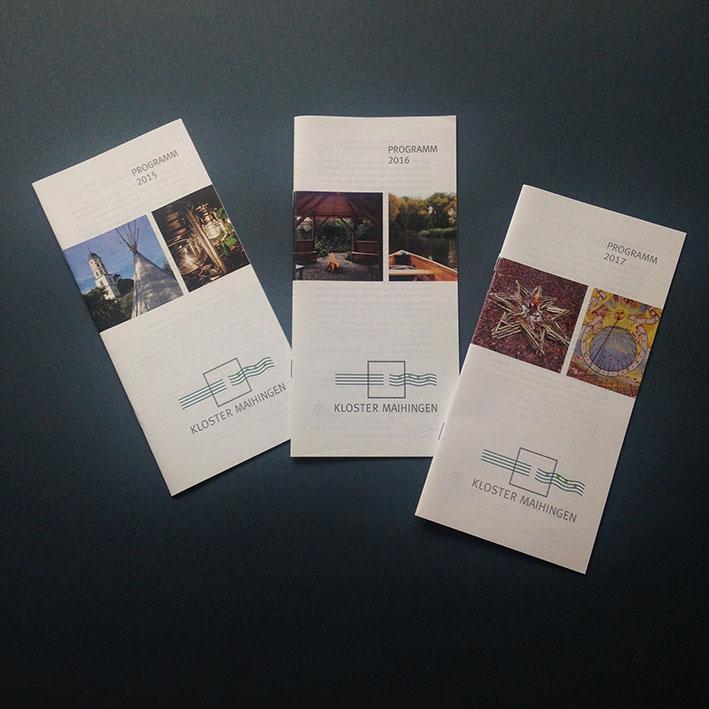 Broschüren Veranstaltungskalender Kloster Maihingen