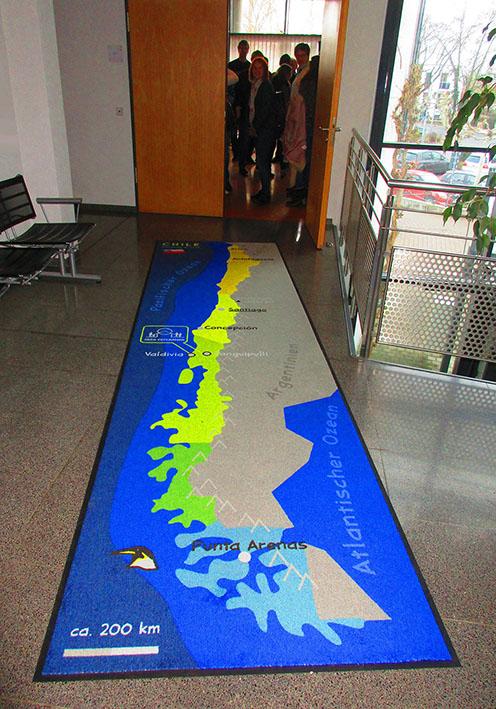 Bodenmatte mit Landkarte