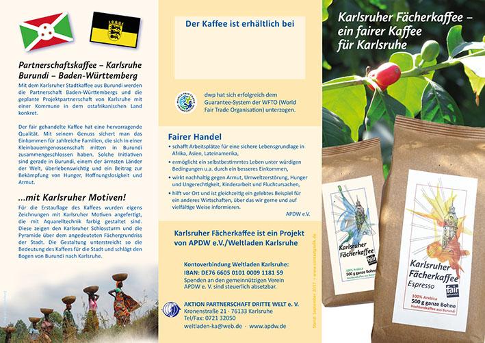 Karlsruher Kaffee Folder