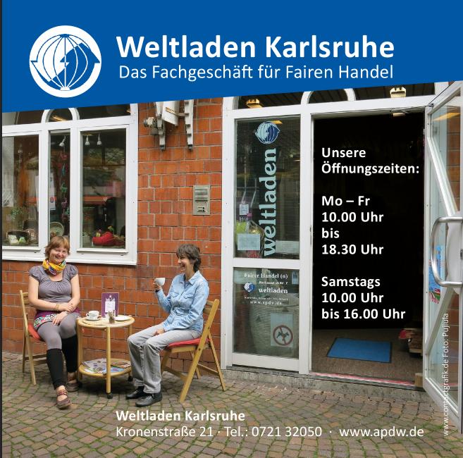 Weltladen Karlsruhe Anzeige