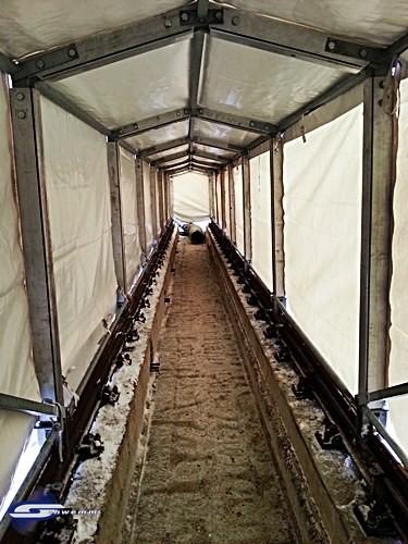 Fahrbare Zelte für den Schienenbau