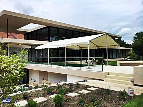 Baustellenzelt für Schwimmingpool Einhausungen
