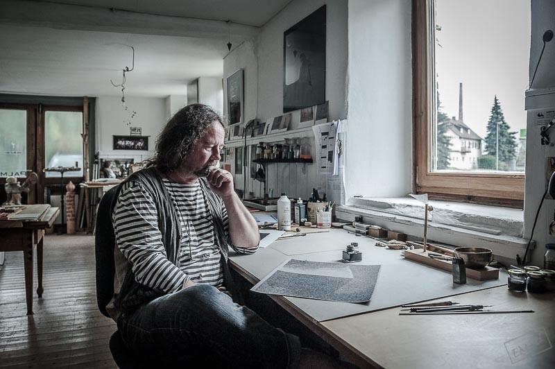 Der Eninger Künstler Frieder Palmer