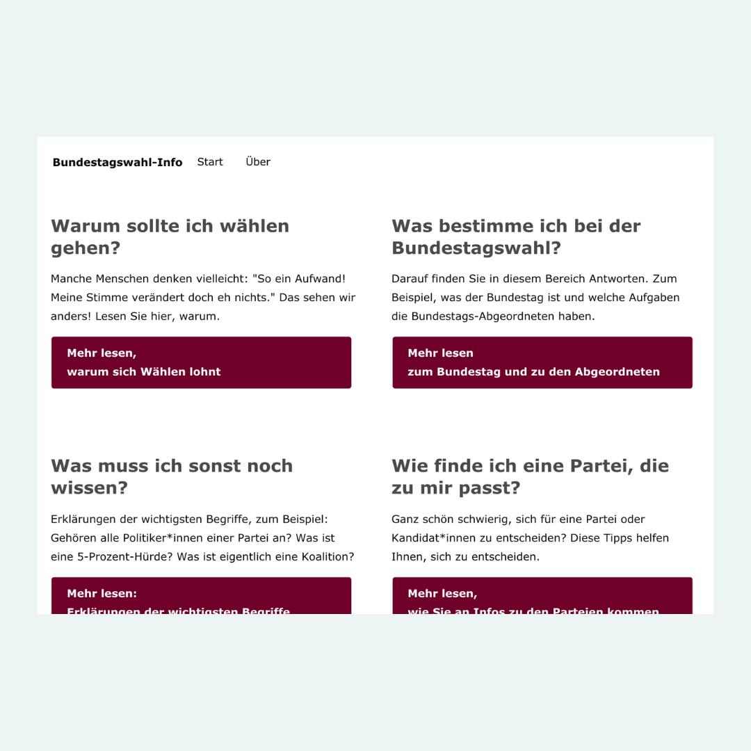 Informationen zur Bundestagswahl in einfacher Sprache