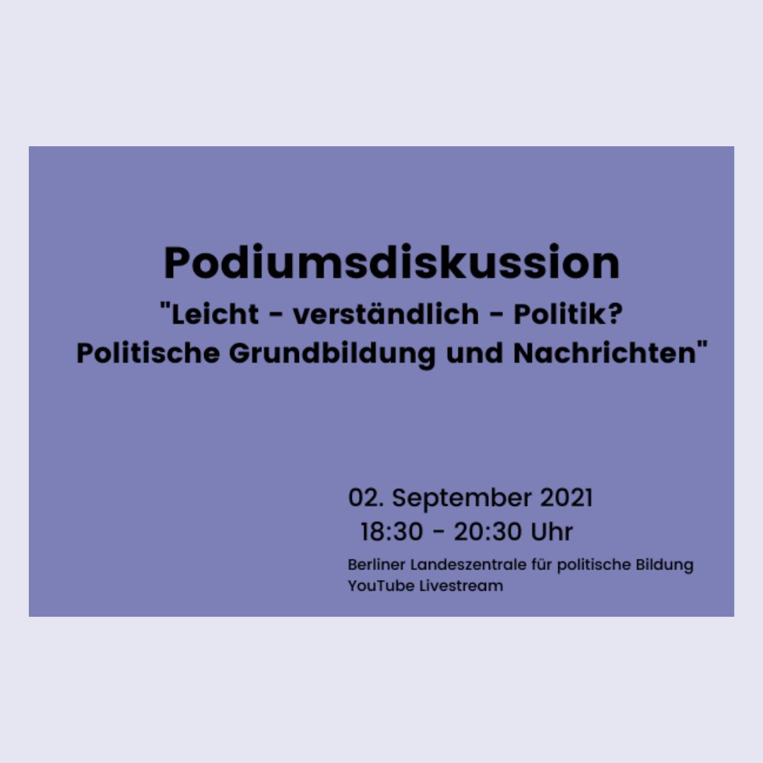 Veranstaltungstipp zum Thema Politische Grundbildung und Nachrichten