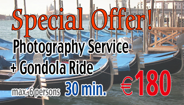 Special Offer Photography Service & Gondola €180