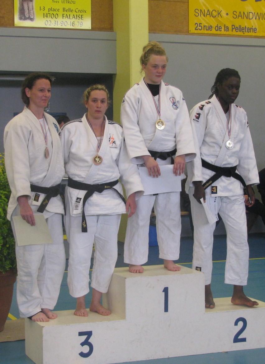 Anne-Laure LECANU -78 kg 3ème qualifiée pour la Coupe de France
