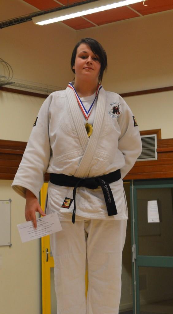 Stéphanie Caramelle Championne de l'Orne seniors -78 kg