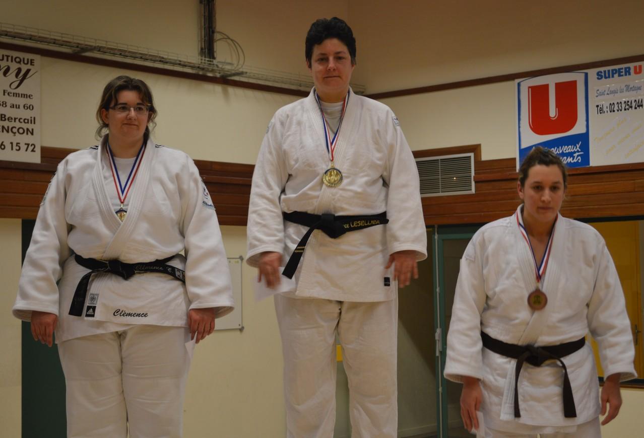 Florence Lesellier Championne de l'Orne seniors +78 kg
