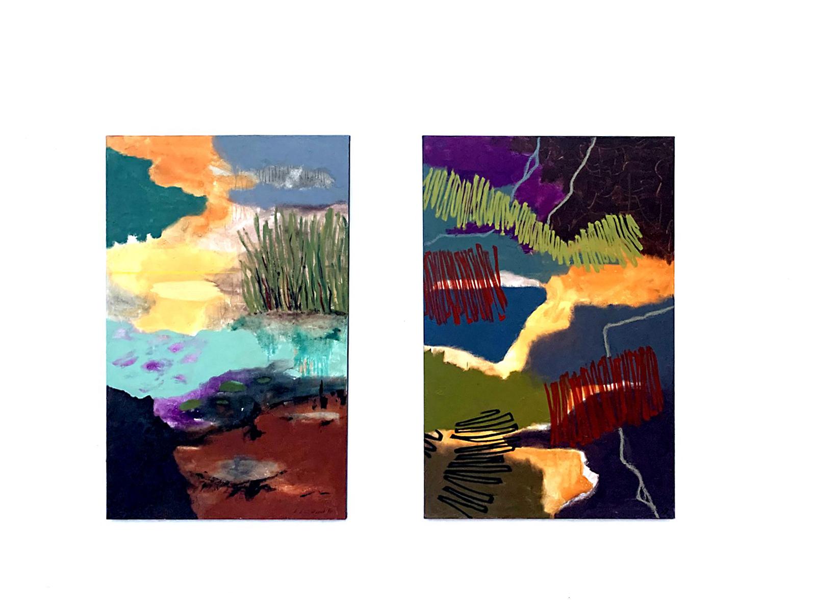 Karin Klindwort ~SEEROSEN~ Acryl. 80x120  //  ~ CONCERTO 316 ~ Acryl. 80x120