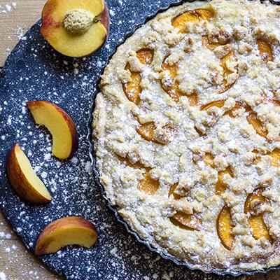 Peach Custard Cake