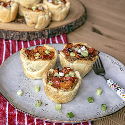 Heirloom Tomato Cup Pies