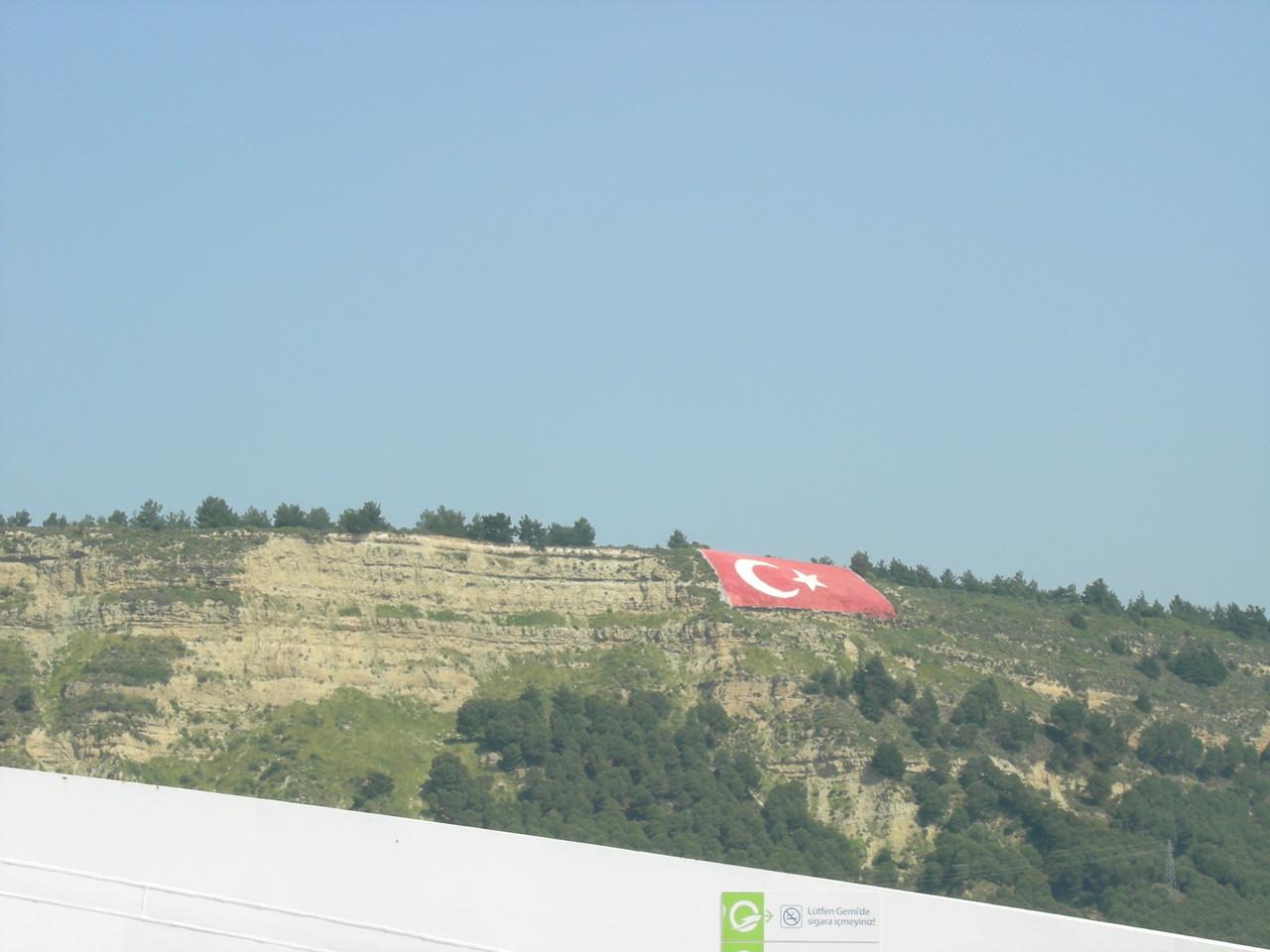 Sicht zum Denkmal von Canakkale 2013