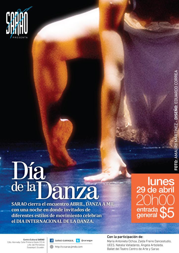 'Día de la Danza' con varios invitados: Zaida Freire Dancestudio, UEES, Sarao, entre otros.