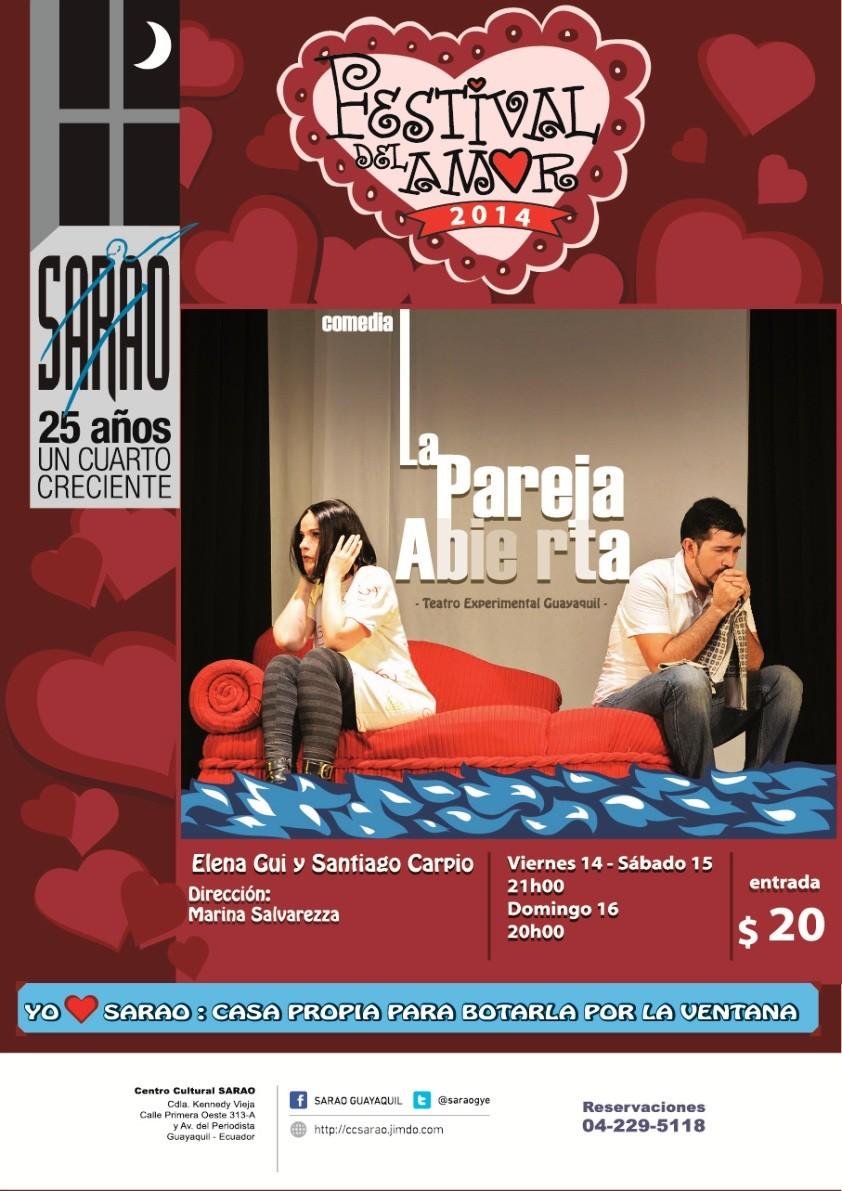 La Pareja Abierta, con Elena Gui y Santiago Carpio. Dirige Marina Salvarezza.