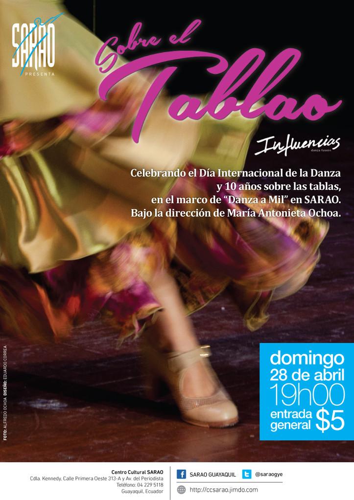 'Sobre el Tablao', con Influencias Danza Fusión,bajo la dirección de María Antonieta Ochoa.