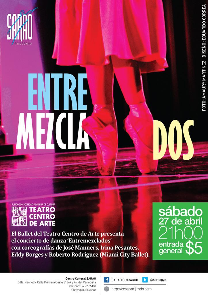 'Entremezclados', concierto de danza a cargo del Ballet del Teatro Centro de Arte.