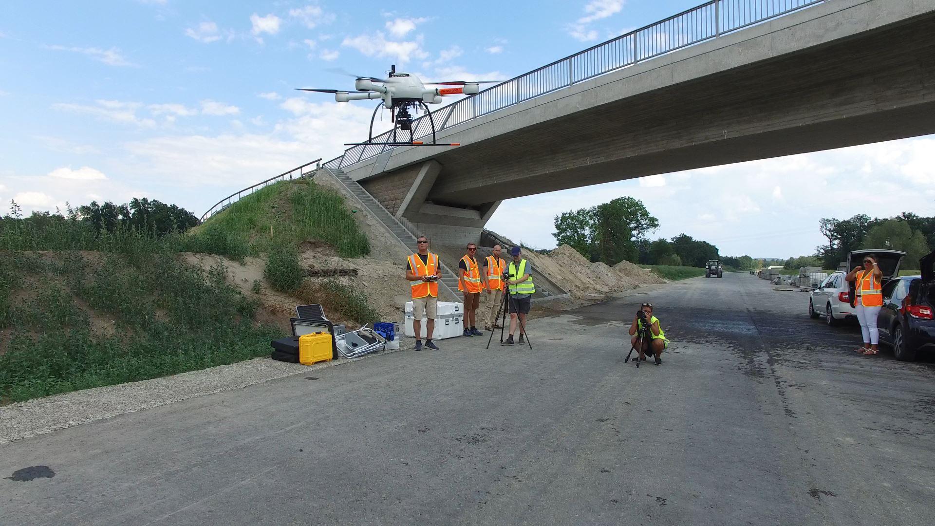 Drohnenaufnahmen für das Unternehmen Microdrones