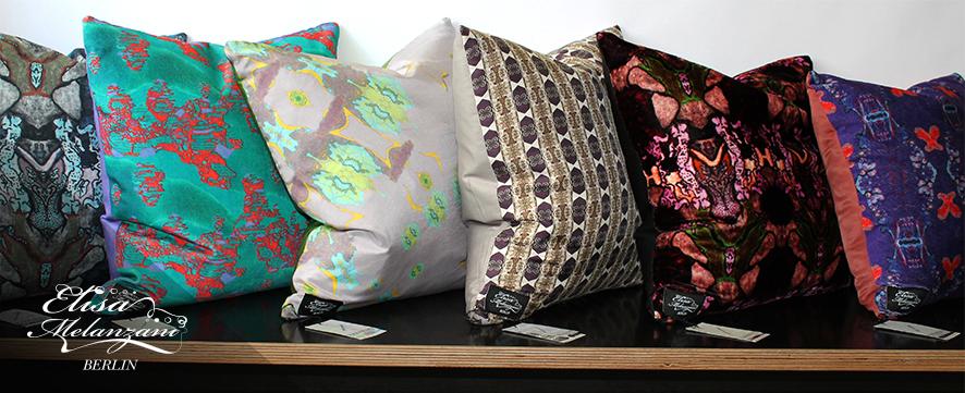 Kollektion: Treasury  - Kissen aus Samt, Seide und Leinen © ELISA MELANZANI BERLIN