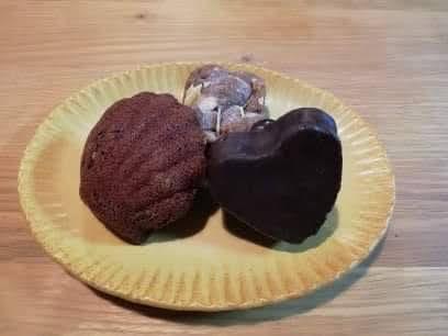 cocoaiハートのガトーおから大根、ショコラオランジュ(マドレーヌ)、リンツァトルテ