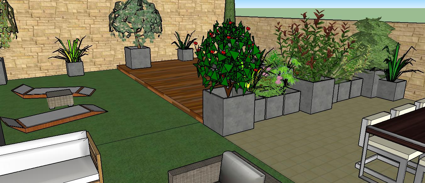 Terrasse paysagiste jardin de ville balcon terrasse bordeaux for Image amenagement terrasse