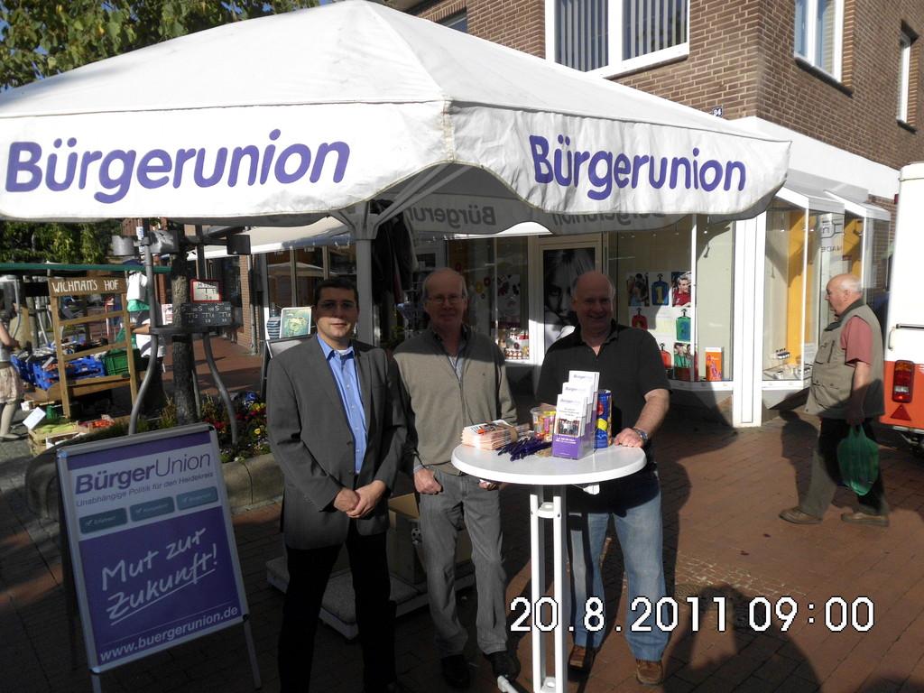 20.08.2011: BU-Stand Wochenmarkt