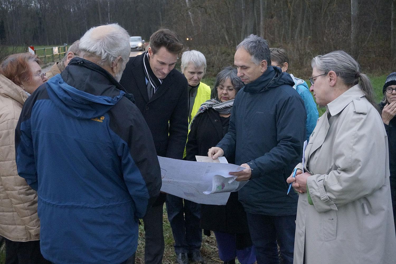 """vor Ort Termin """"Keine zweite Riedautobahn"""" von Pfaffenhofen nach Tapfheim mit Ludwig Hartmann"""