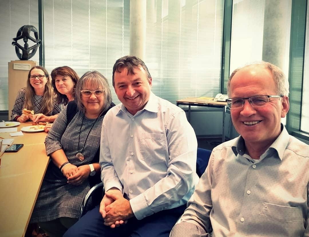 Bezirkstagssitzung mit Xaver, Albert, Christine und Annemarie